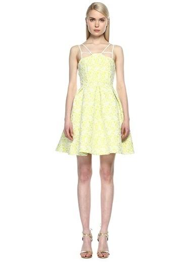 8Th Sign Askılı Kloş Elbise Sarı